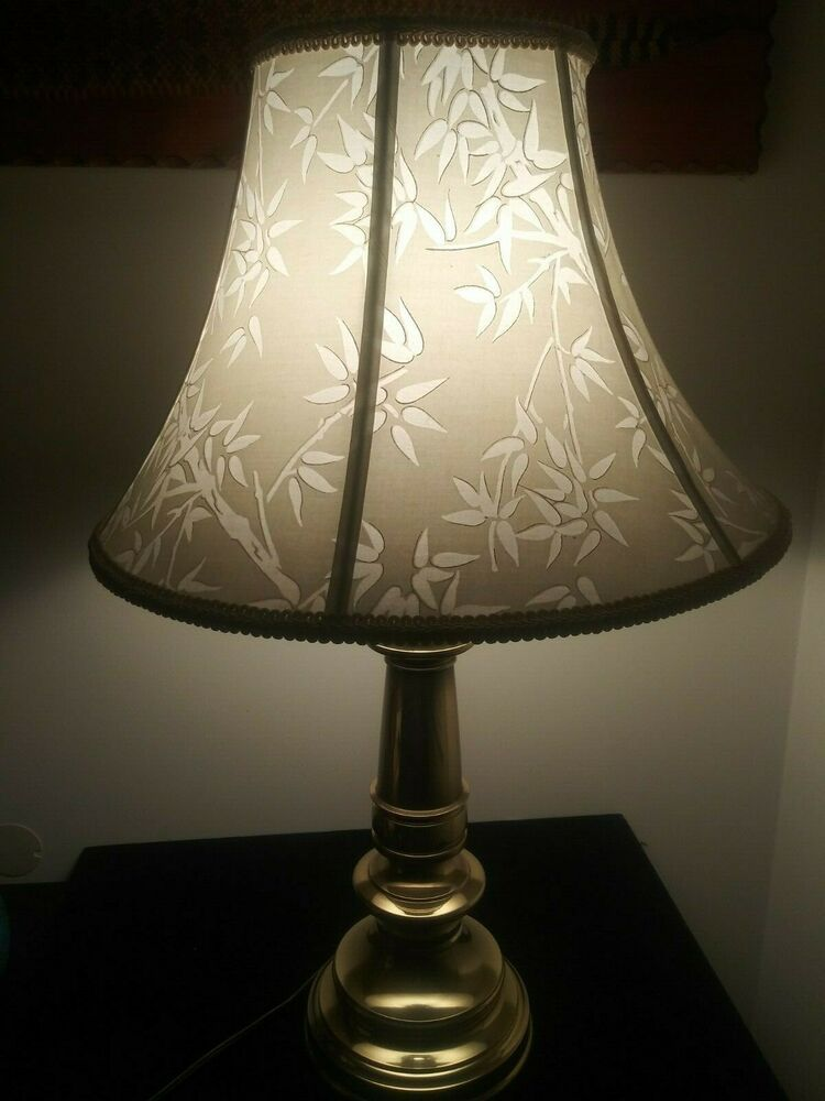 Vintage Brass Table Lamp With Fenials