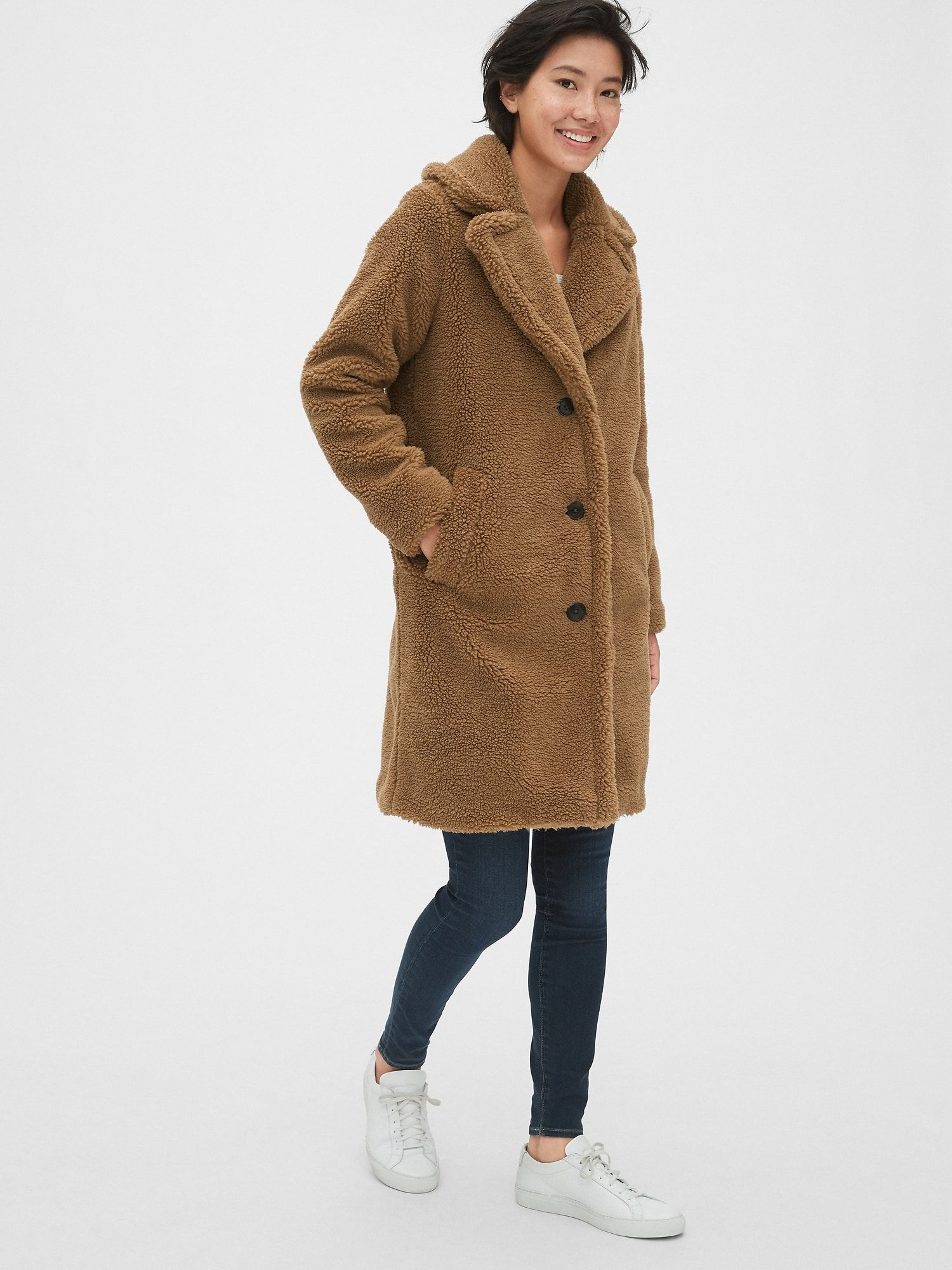 Teddy Coat Gap Teddy Coat Womens Active Wear Outfits Coat [ 2000 x 1500 Pixel ]