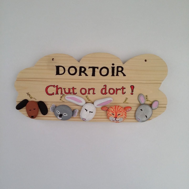 Plaque Dortoir Galets Chut On Dort Pour Crèche Halte