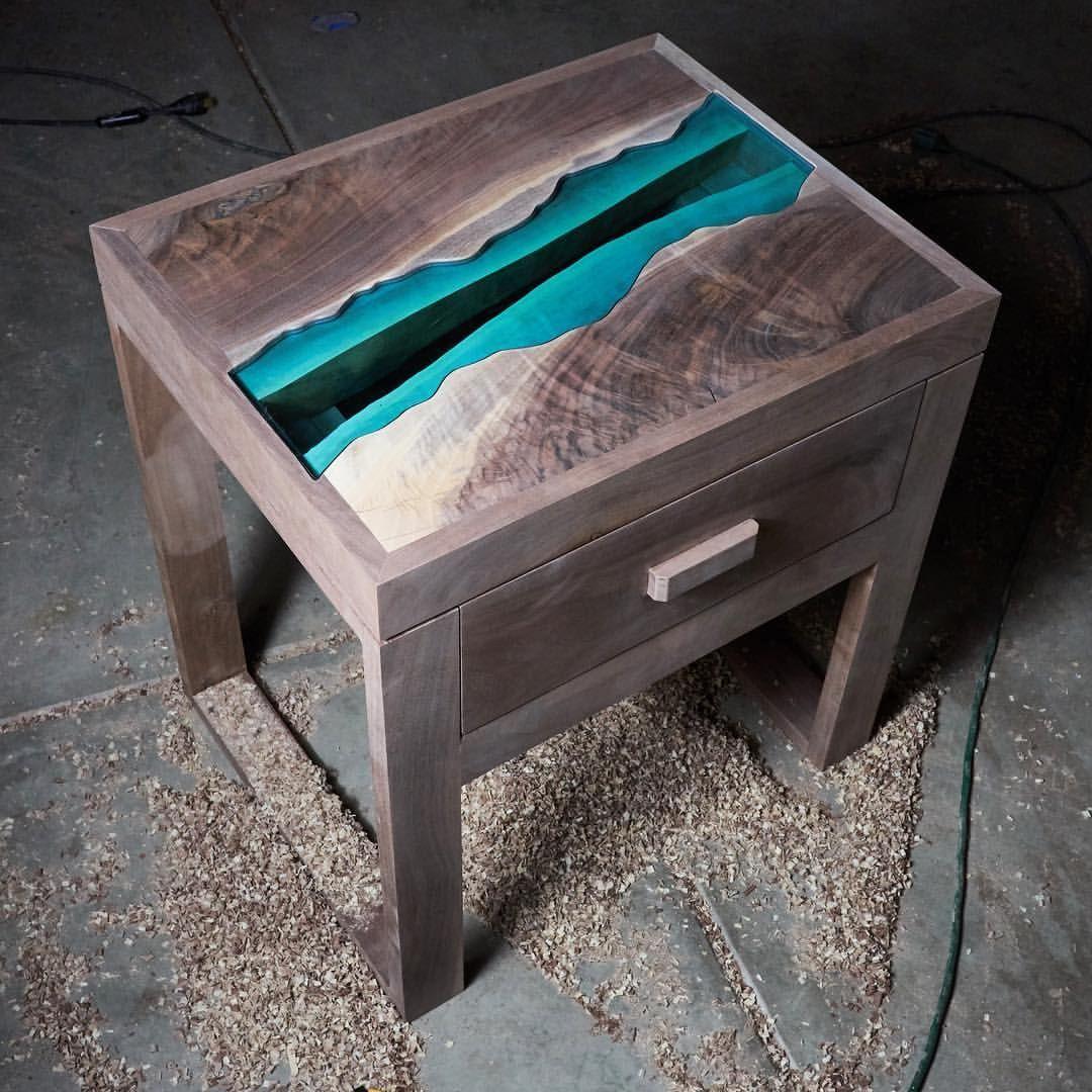 He granite creek nightstand the design features a figured black