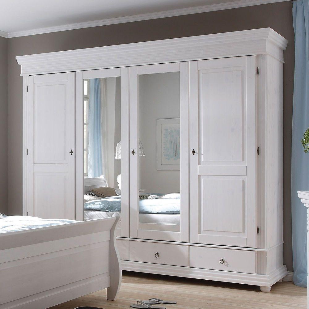 Schlafzimmerschrank Weiß Mit Spiegel