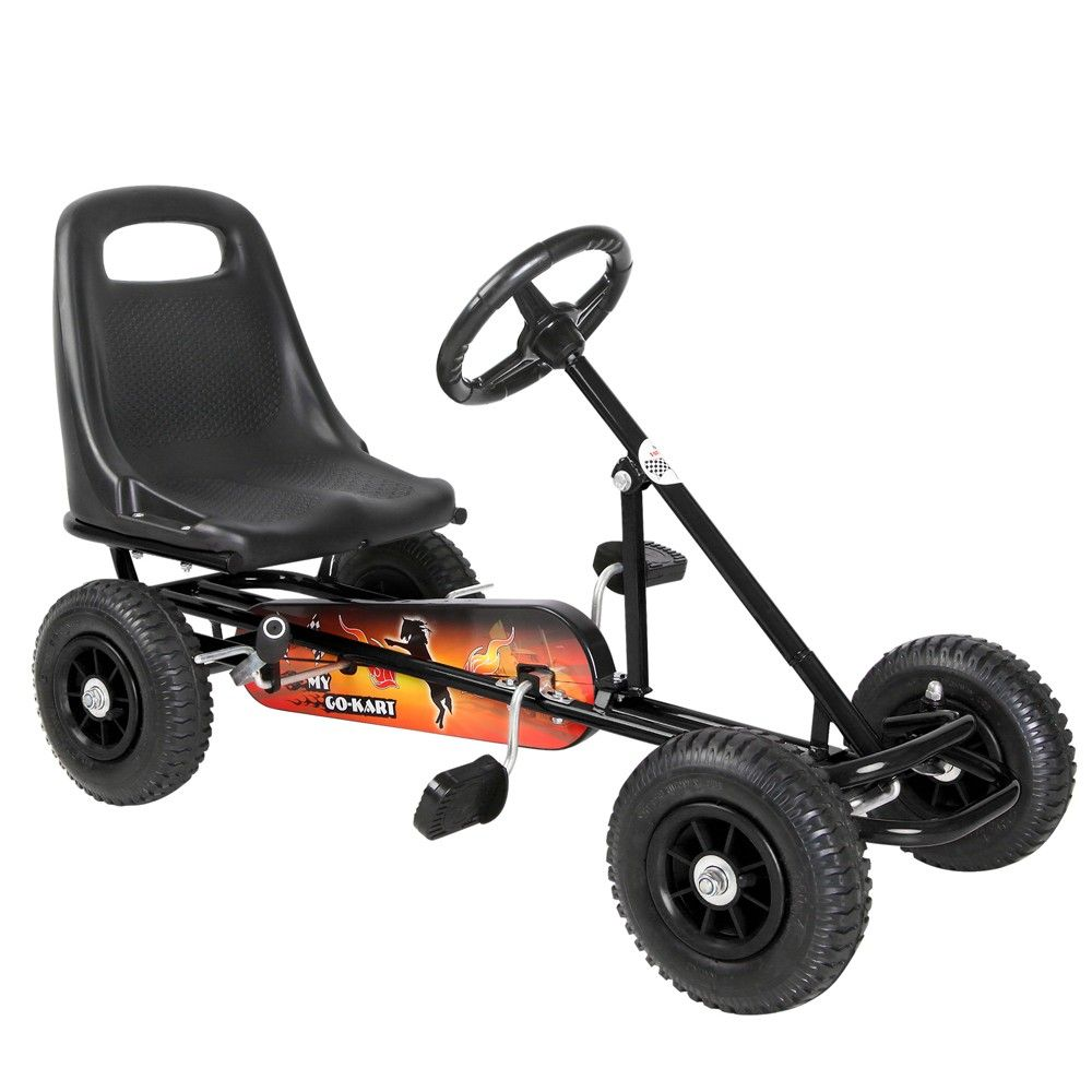 Kids Pedal Powered Racing Go Kart - Black | Final Project ...