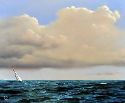 Cloud Study with Boat - Heather Neill