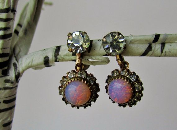 Vintage Opal Earrings by TwoDevils on Etsy, $50.00