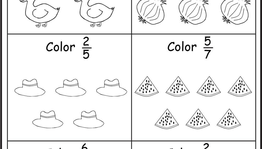 Coloring Fractions - 5 Worksheets | fractions | Pinterest ...