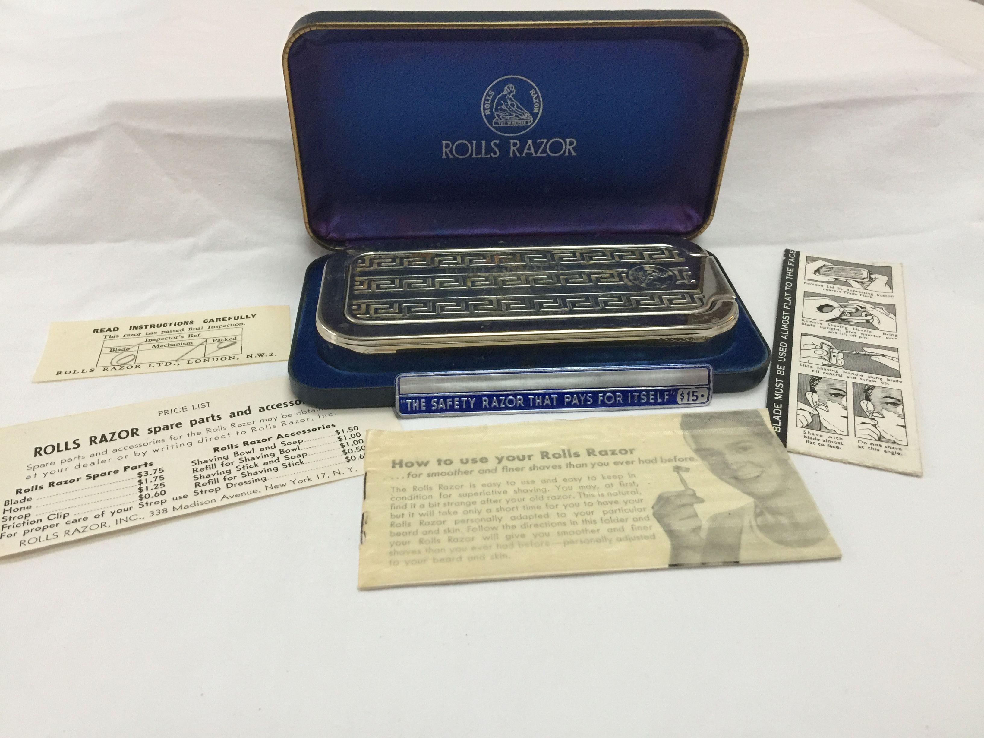 Vintage Rolls Razor Quot Whetter Quot Travel Blue Case England