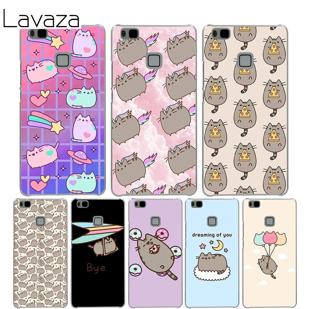 Lavaza Pusheen Cat Cover Case for Huawei P10 P9 Lite Plus P8 Lite ...