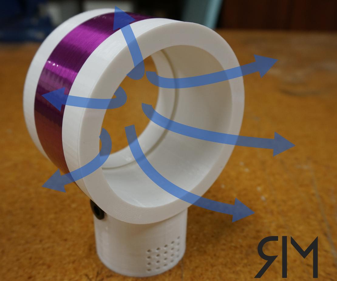 3D Printed Portable Bladeless Fan 3d drucker, 3ddrucker
