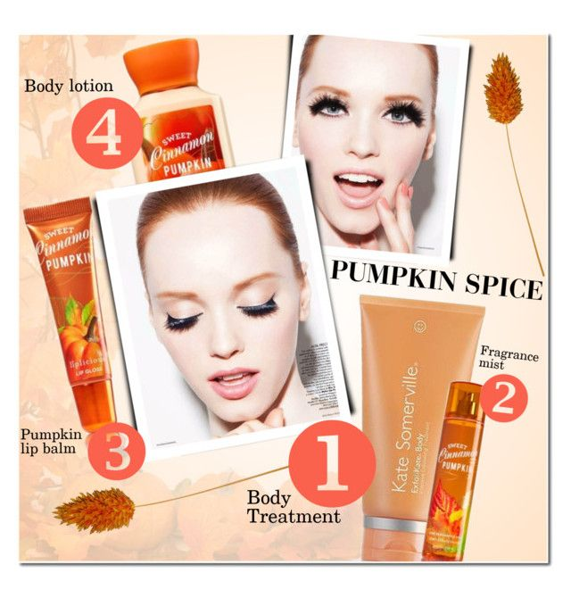 """Pumpkin Spice Beauty"" by anna-anica ❤ liked on Polyvore featuring beauty, Kate Somerville and pumpkinspicebeauty"