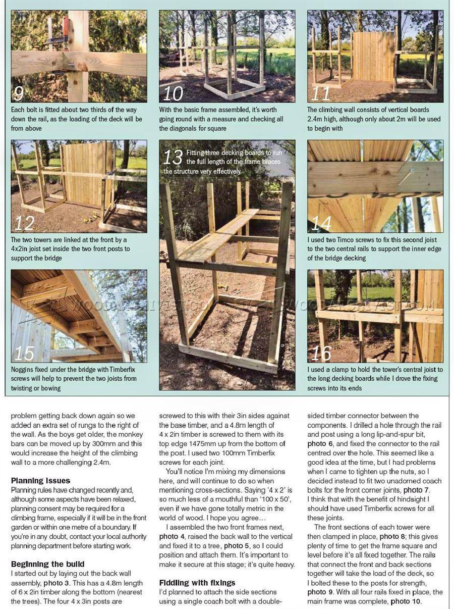 2232 Kids Climbing Frame Plans - Children\'s Outdoor Plans | Garten ...