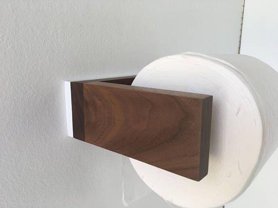 Bad Handtuchhalter - Toilettenpapierhalter - Walnuss-weiß - Bad - leuchte für badezimmer