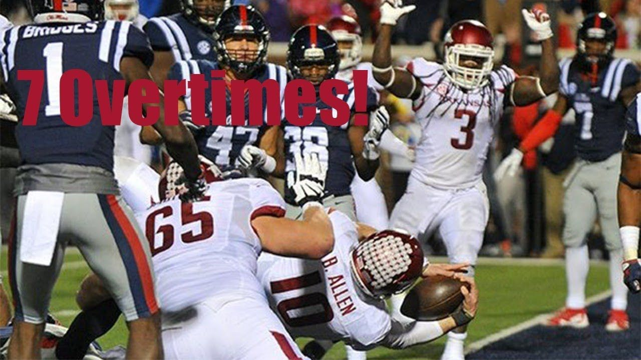 Longest College Football Games 5 Overtimes College Football
