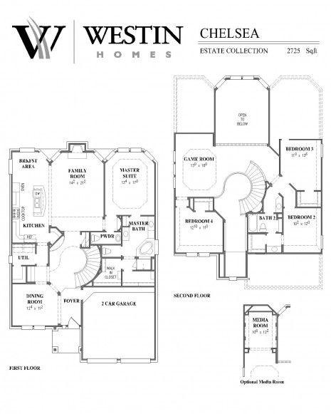 Westin Homes Floor Plans One Story Walker Homes Floor Plans