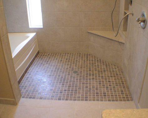 Accessible Showers | ... handicap accessible custom tile shower ...