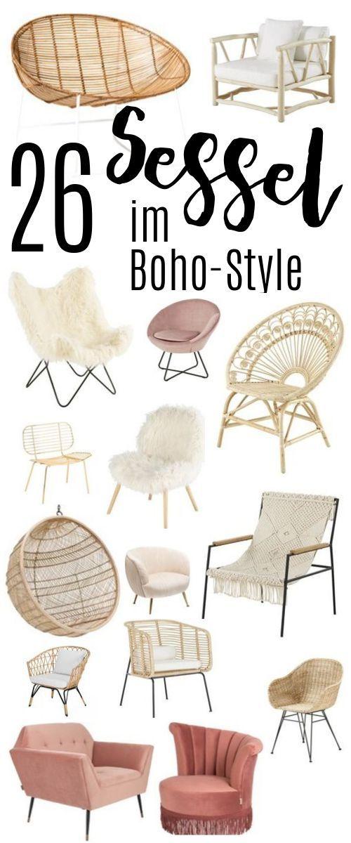 26 besondere Sessel im Boho Stil - für jedes Budget — hochseiltraum
