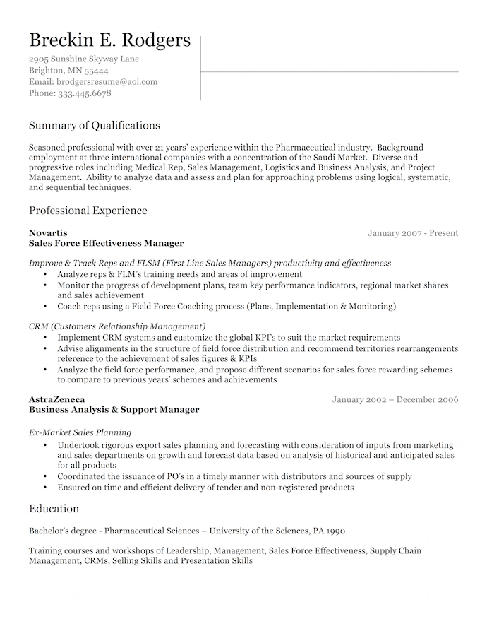 Professionally Written Resumes Resume Business Analysis Executive Resume