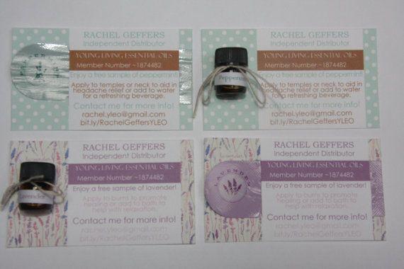 Custom Made Sample Card for Essential Oils Business - 1 CARD - sample cards