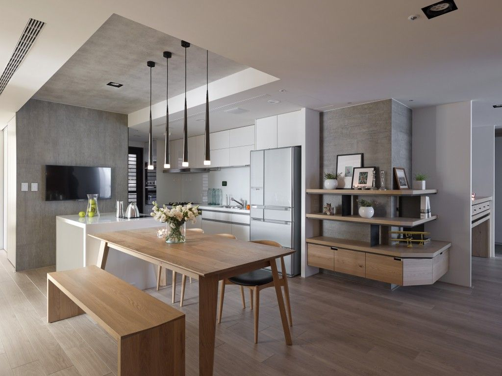 Minimalist Apartment Design With Asian Style Decoration Examples - A modern asian minimalistic apartment