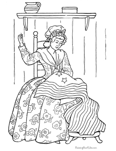 American Flag History Coloring Page | Homeschool: Elementary ...