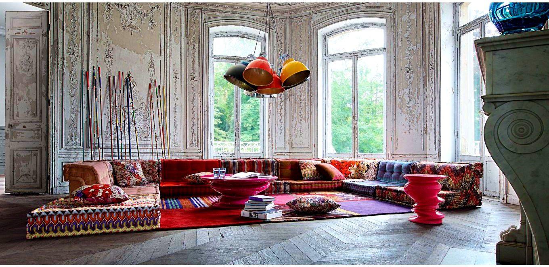 Furnitureexcellent Modular Sofa Contemporary Fabric Multiplace Mah