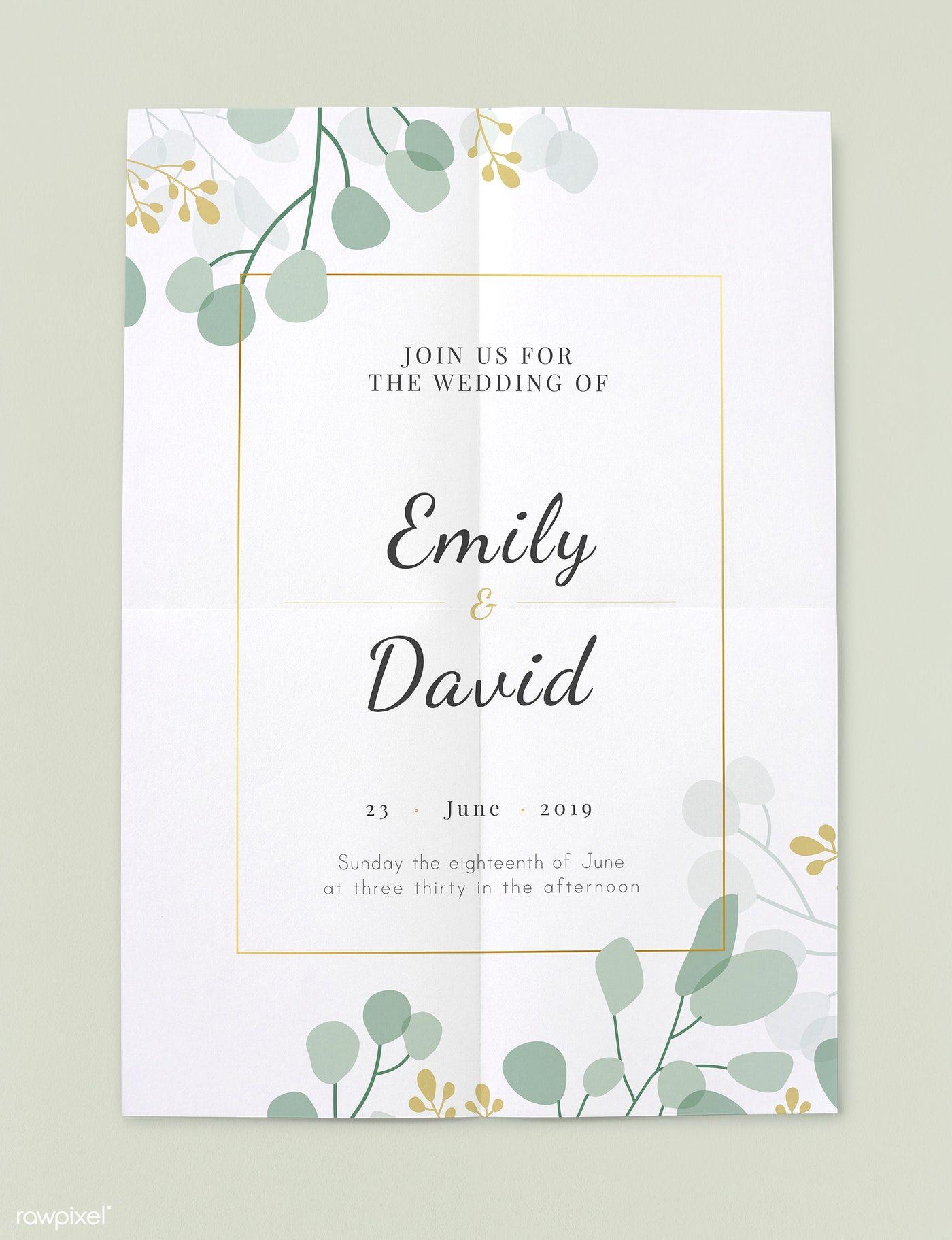 Download Premium Psd Of Wedding Invitation Card 545575 Wedding Invitations Wedding Invitation Card Template Wedding Invitation Vector