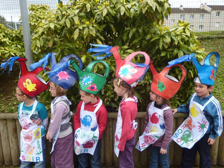Les petits jardiniers d aixe sur vienne a l 39 cole maternelle publique d 39 aixe sur vienne - Deguisement sac poubelle ...