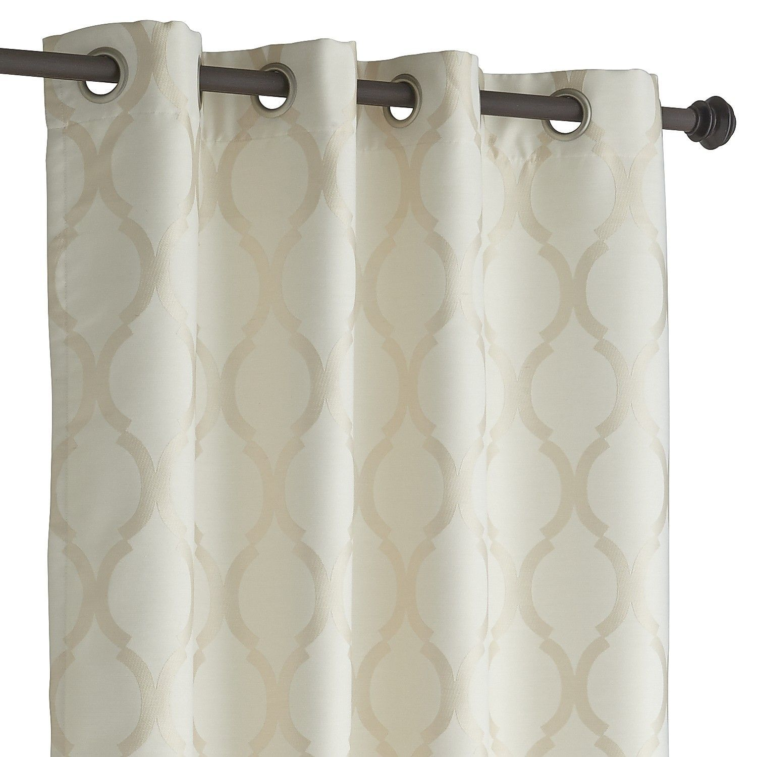 Moorish Tile Ivory Grommet Curtain | Moorish, Room and Living rooms