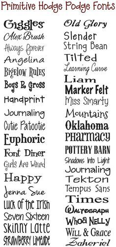 Image Result For Primitive Country Chic Font Svg  Fonts
