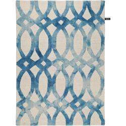benuta Wollteppich Dip Dye Blau 160×230 cm – Naturfaserteppich aus Wolle benuta
