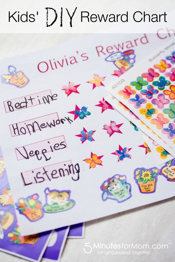 Here Is A Simple Reward Chart Template So Your Kids Can Make Their Own Charts Free S In Pink Or Blue Rewardchart Printables