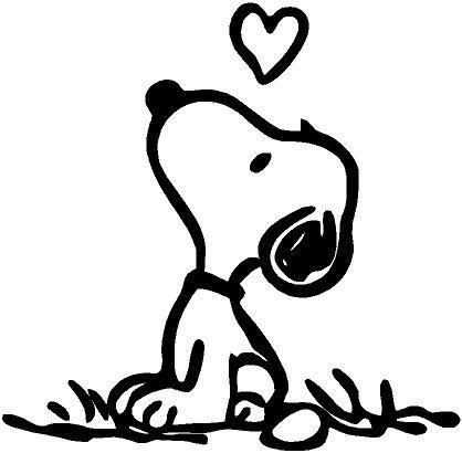 Kawaii Dibujos De Perros Para Pintar Snoopy Looking Up Love Vinyl Sticker Decal For Car Laptops