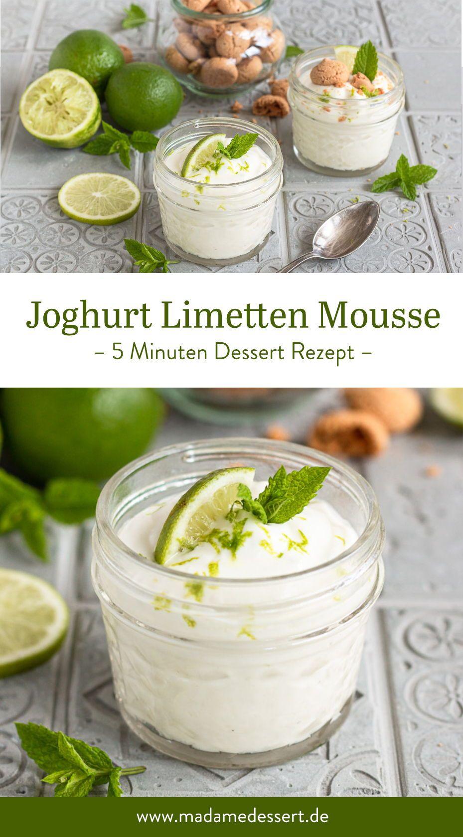 Joghurt Limetten Mousse