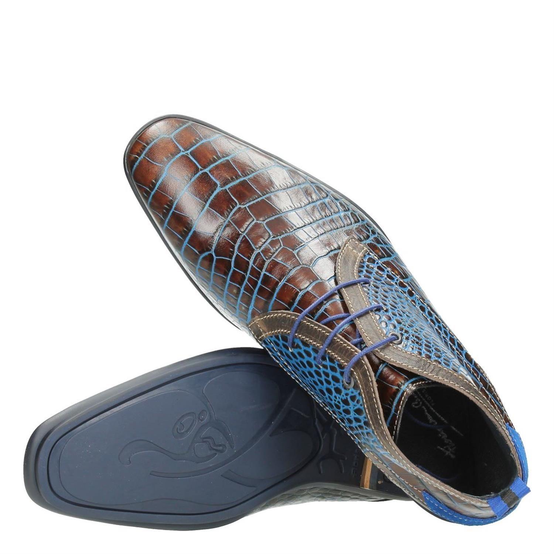 heren modeschoenen boot floris van bommel grijs men. Black Bedroom Furniture Sets. Home Design Ideas