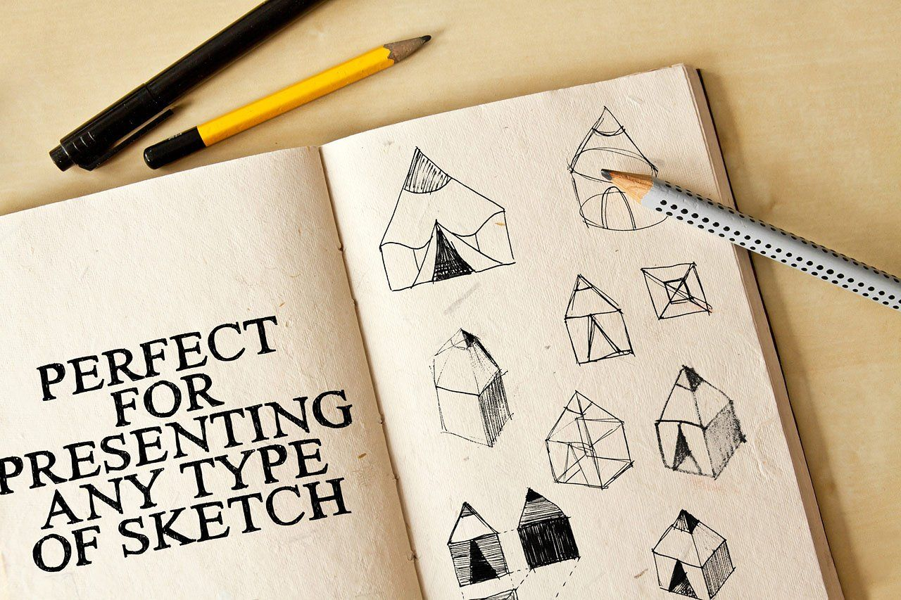 Drawing Sketch Pad Mock Ups Sketch Pad Drawing Sketches Postcard Mockup