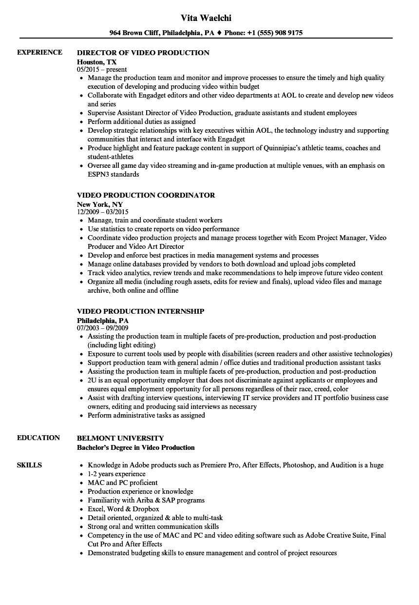 Resume Examples Video Production Resume Templates Resume Examples Business Analyst Resume Dental Assistant Jobs