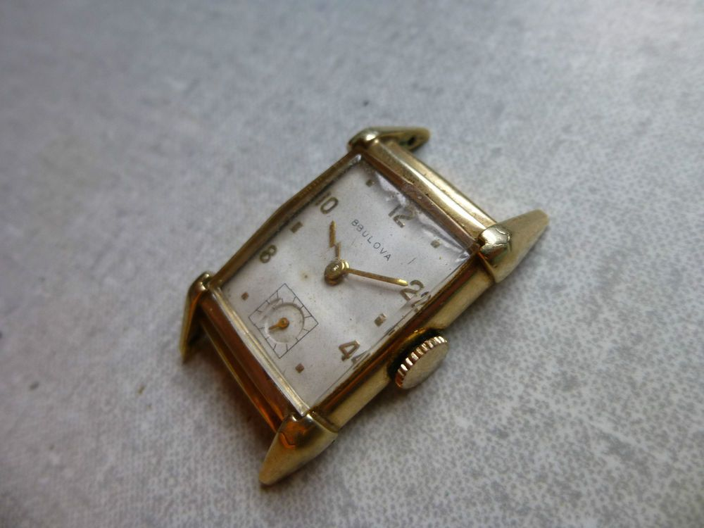 Vintage Bulova 10k Gold Filled 21 Jewel 7ak Movement Watch Parts Repair Bulova Dressformal 10k Gold Gold Filled Watch Movement