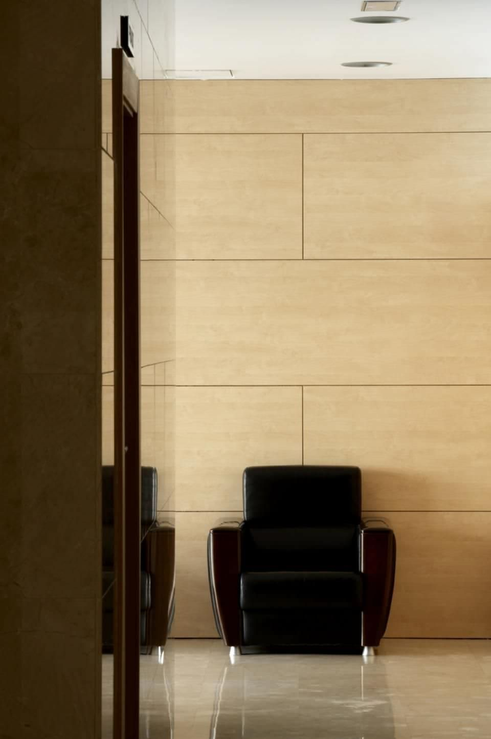 Wall-mounted decorative panel / composite / laminate / textured ...