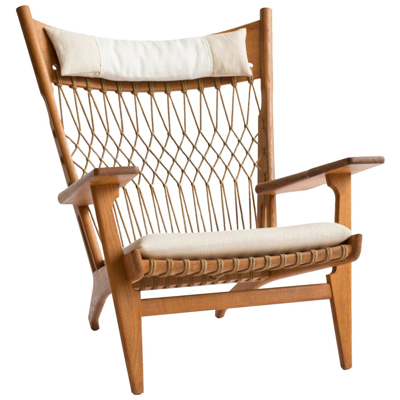 Antique easy chair - Hans J Wegner Jh 719 Armchair By Johannes Hansen From A Unique Collection