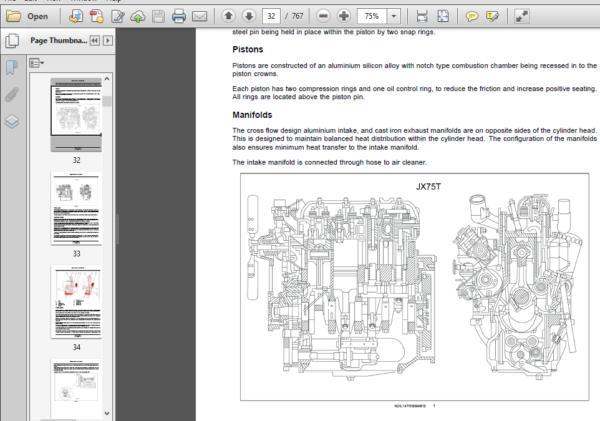 Case Ih Tractor Jx55t Jx75t Service Manual Case Ih Tractors Case Ih Hydraulic Systems