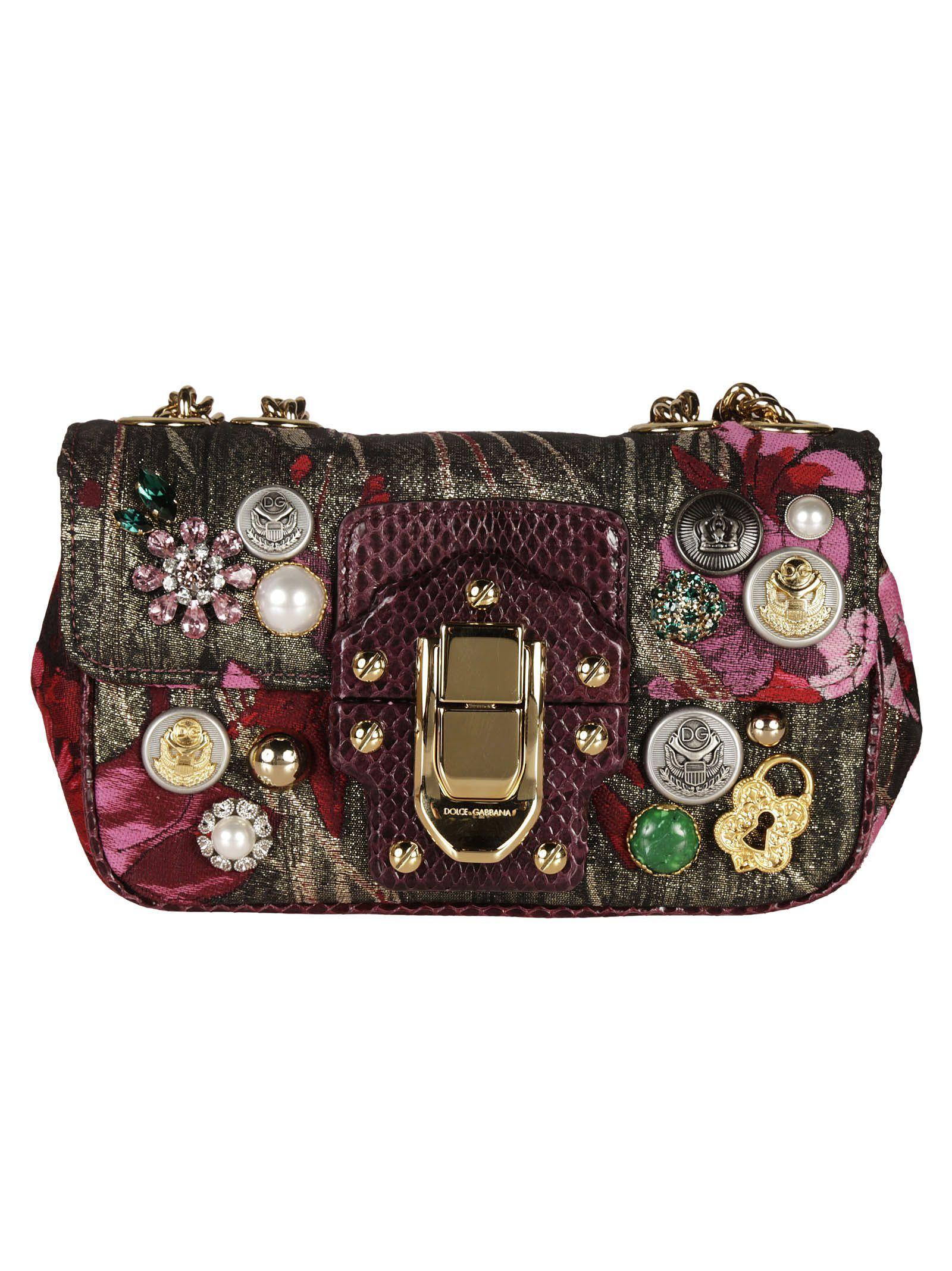 dbfff5ae0a DOLCE   GABBANA FLORAL PRINT LUCIA SHOULDER BAG.  dolcegabbana  bags   shoulder bags  stone