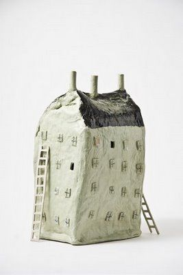 Would be fun to have the kids build a replica of their house out of cardboard & masking tape, that becomes the armature for a sweet paper mache crooked little house.