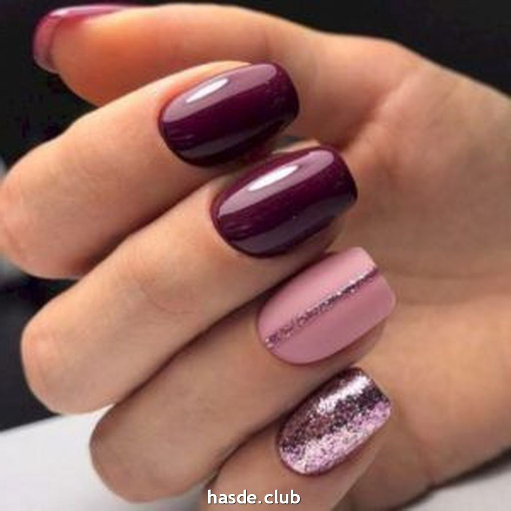 30 Inspiring Winter Nails Color Trend 2020 Burgundy Nail Designs