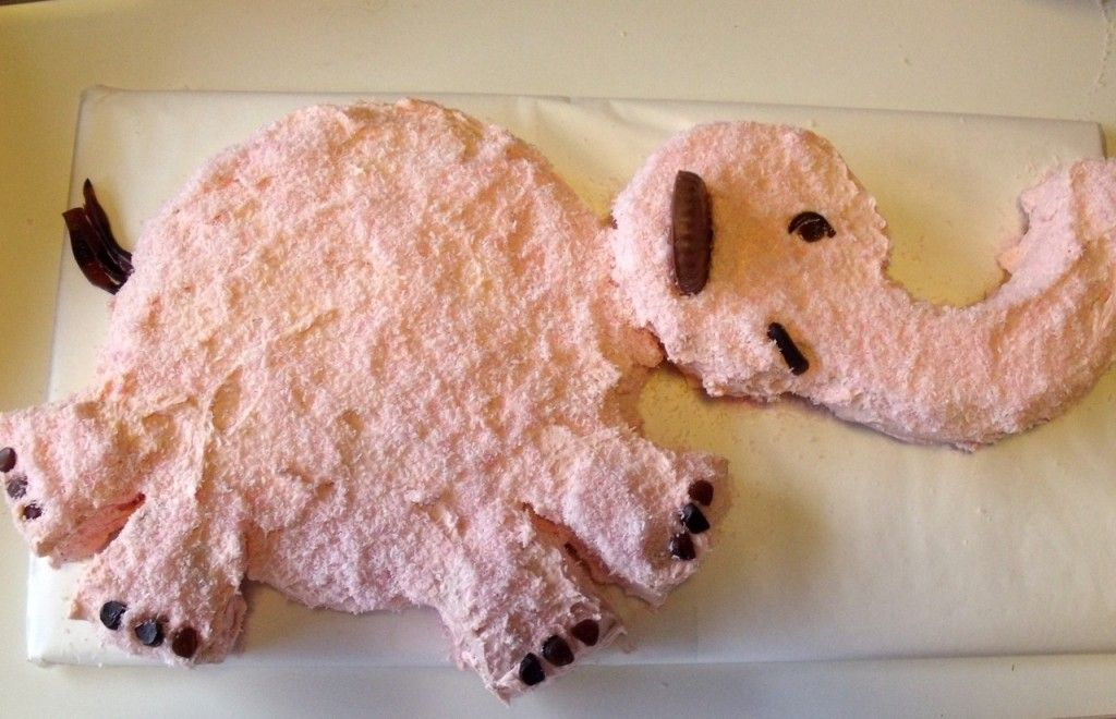 once upon a time my grandma made me an elephant cake with pink coconut. one day i'll recreate it like this!