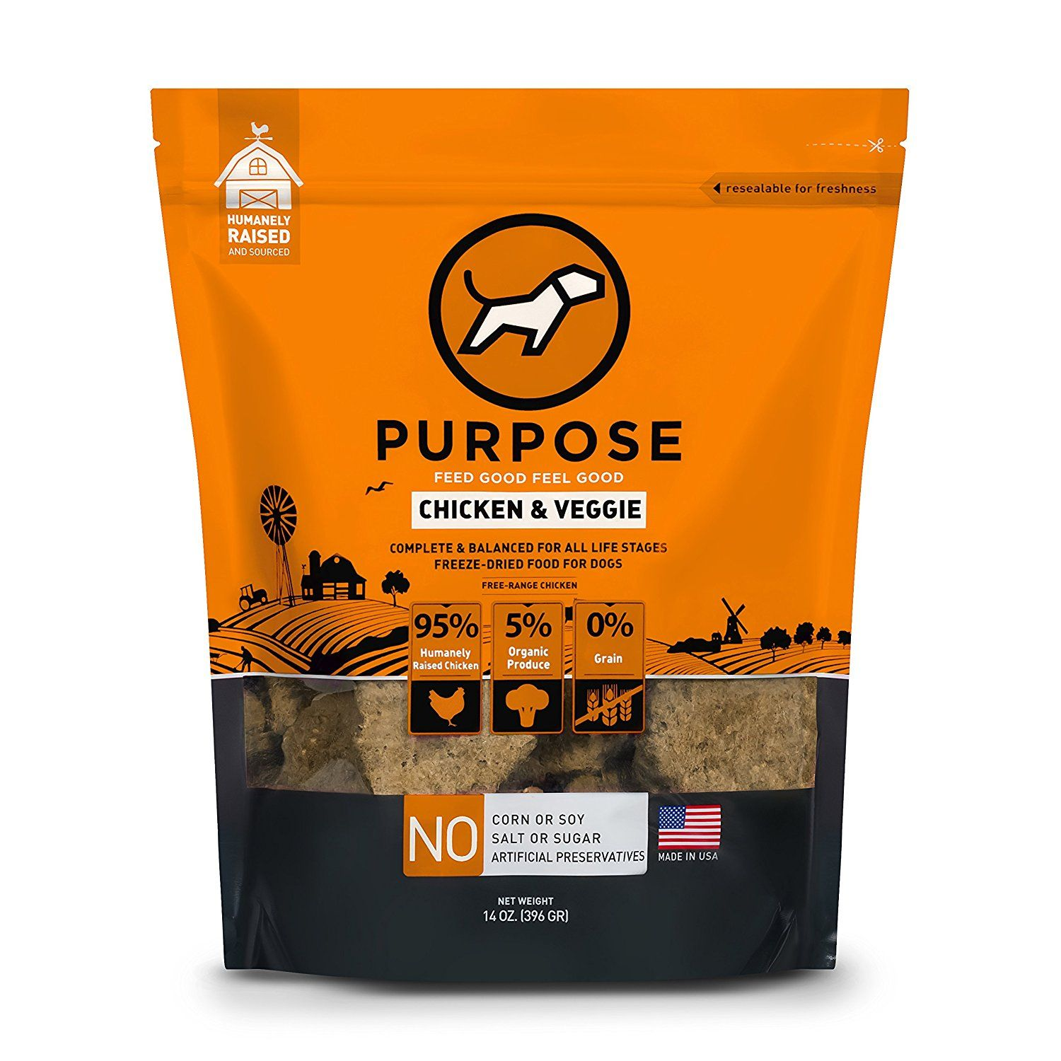 Purpose Freeze Dried Chicken and Veggie Humanely Raised
