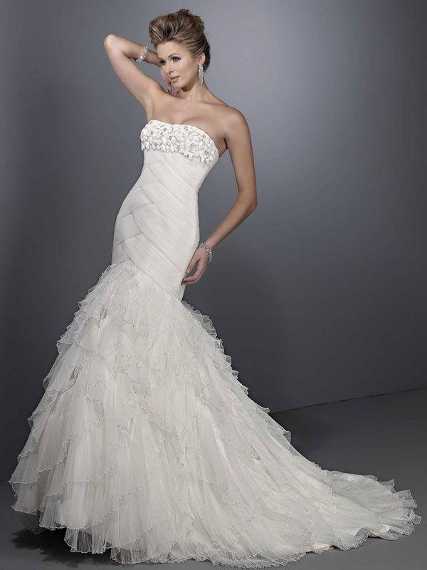 Trumpet Mermaid Net Sleeveless Bridal Gownallure Wedding Dressesallure Dresses