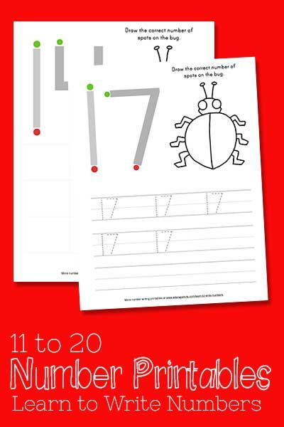 Learn To Write Numbers 11 20 Using This Free Printables Number
