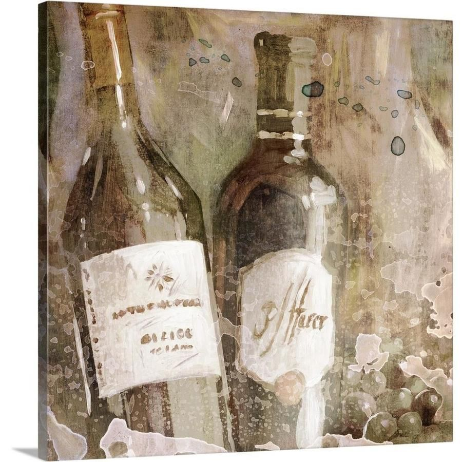 Greatbigcanvas Greatbigcanvas Frameless 16 In H X 16 In W Abstract Canvas Painting Lowes Com Wine Wedding Abstract Canvas Painting Abstract Canvas