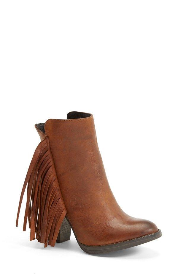 Buy Women Shoes / Steve Madden Woodstock Fringed Heeled Boots