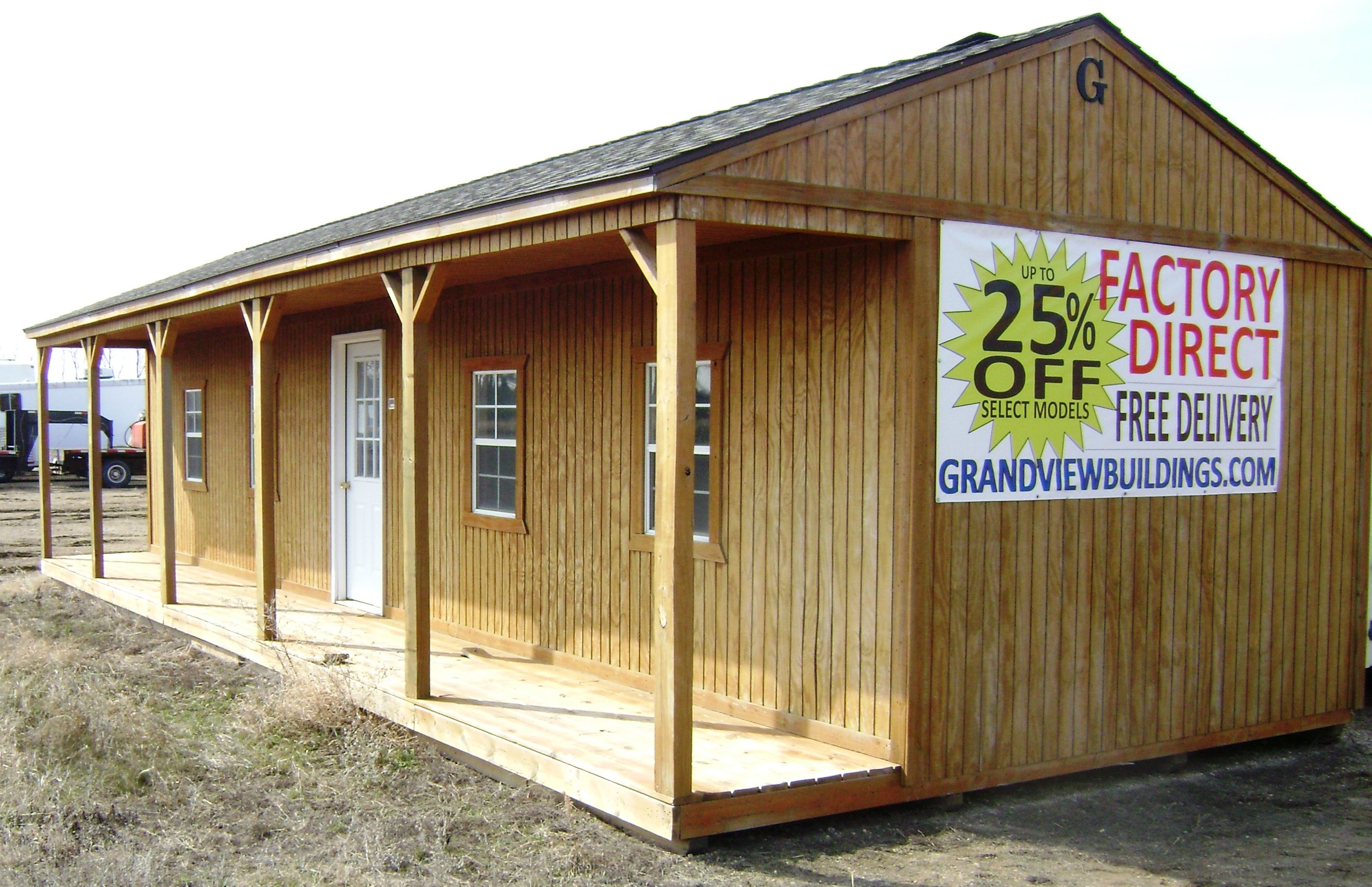 16x40 Side Porch Cabin built by Grandview Buildings! Custom Builds