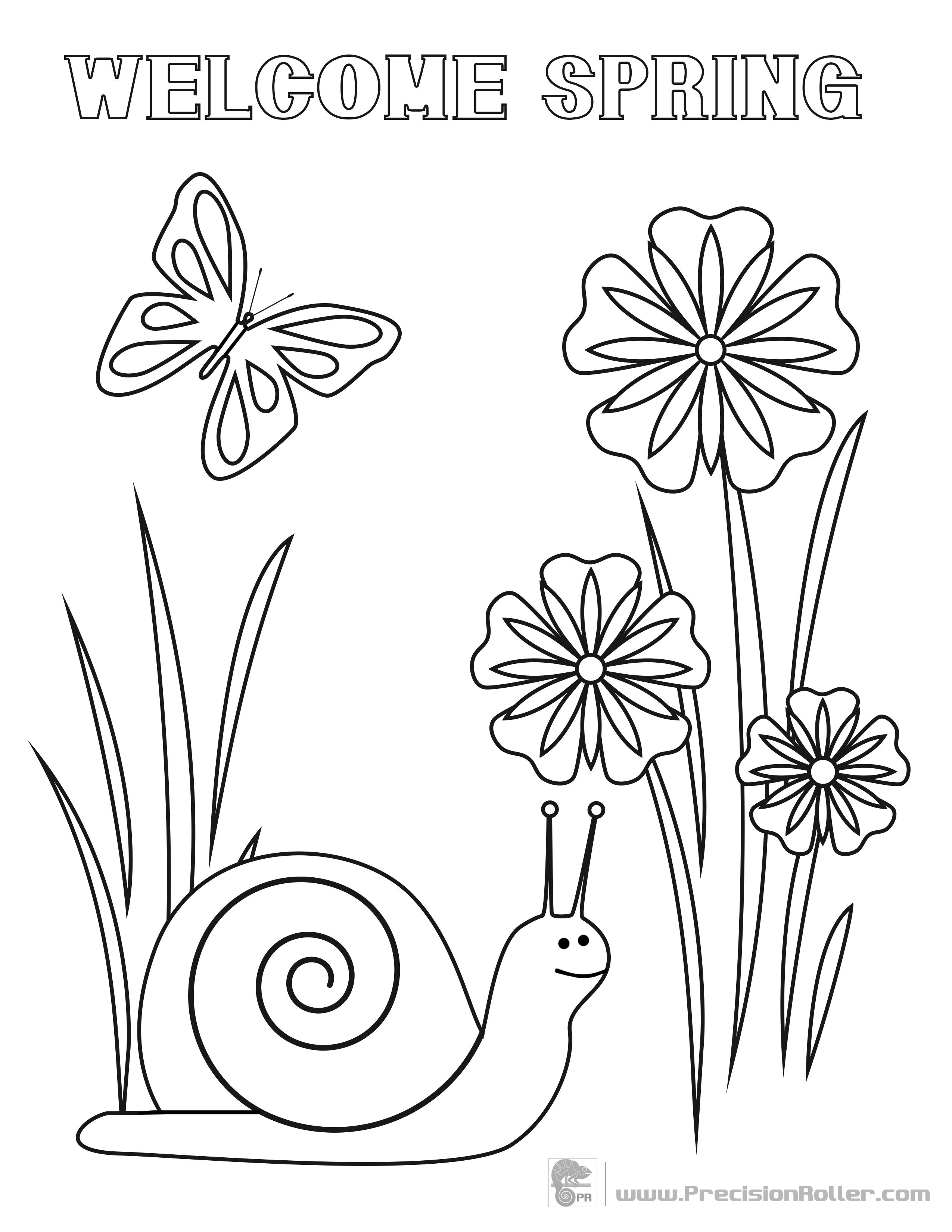 Fun spring coloring pages - Spring Coloring Sheet Save And Print